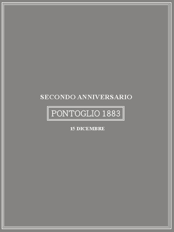 SECONDO ANNIVERSARIO PONTOGLIO 1883